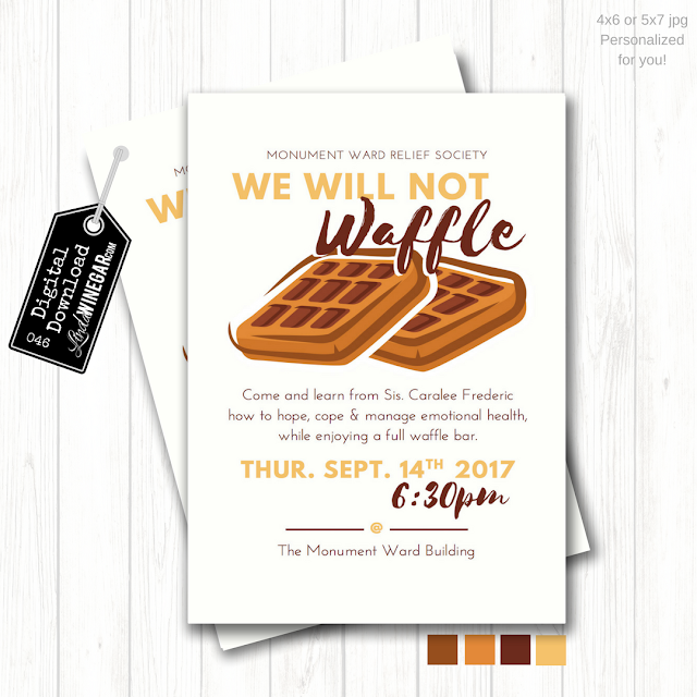 4 Steps To An Lds Waffle Bar Party Invite Idea Included Linda