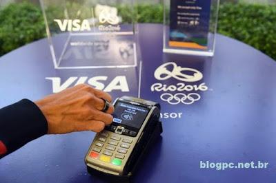 A Visa vai aproveitar o patrocínio e oferecer a 45 atletas um anel que faz pagamentos nas máquinas convencionais de cartão