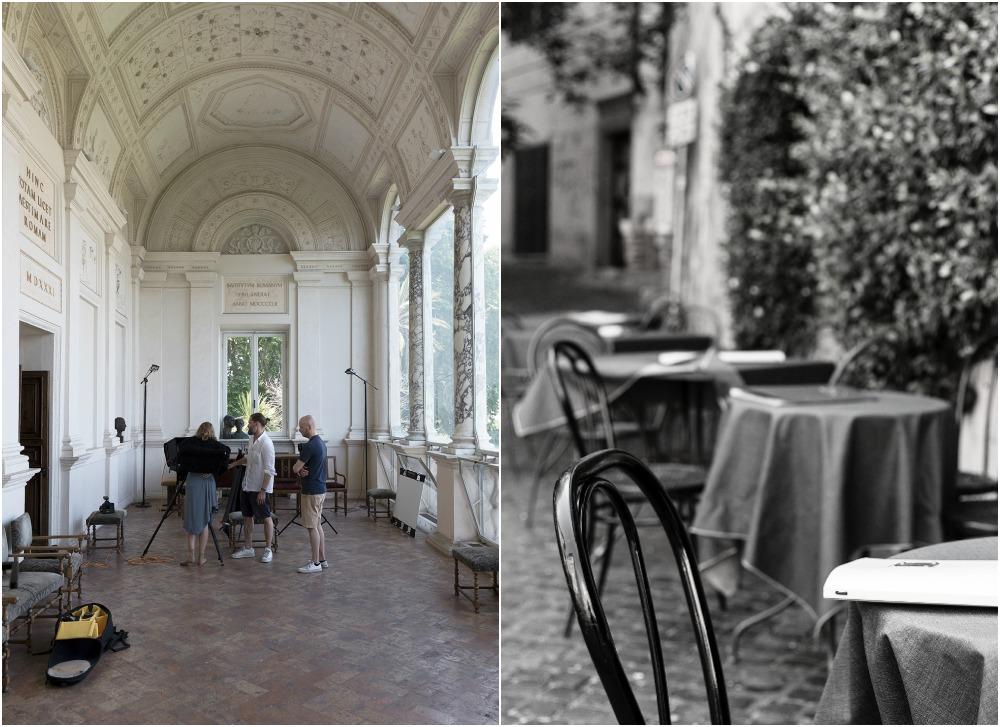 Rooma, kesä, kaupunki, valokuvaus, Visualaddict, Rome, photography, Frida Steiner, valokuvaaja, Rome, streetphotography, Villa Lante, behind the scenes, making of photography, fashion photoshoot