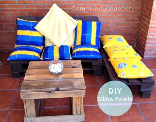 Como crear y transformar dos palets en un sillon para el jardin o exteriores