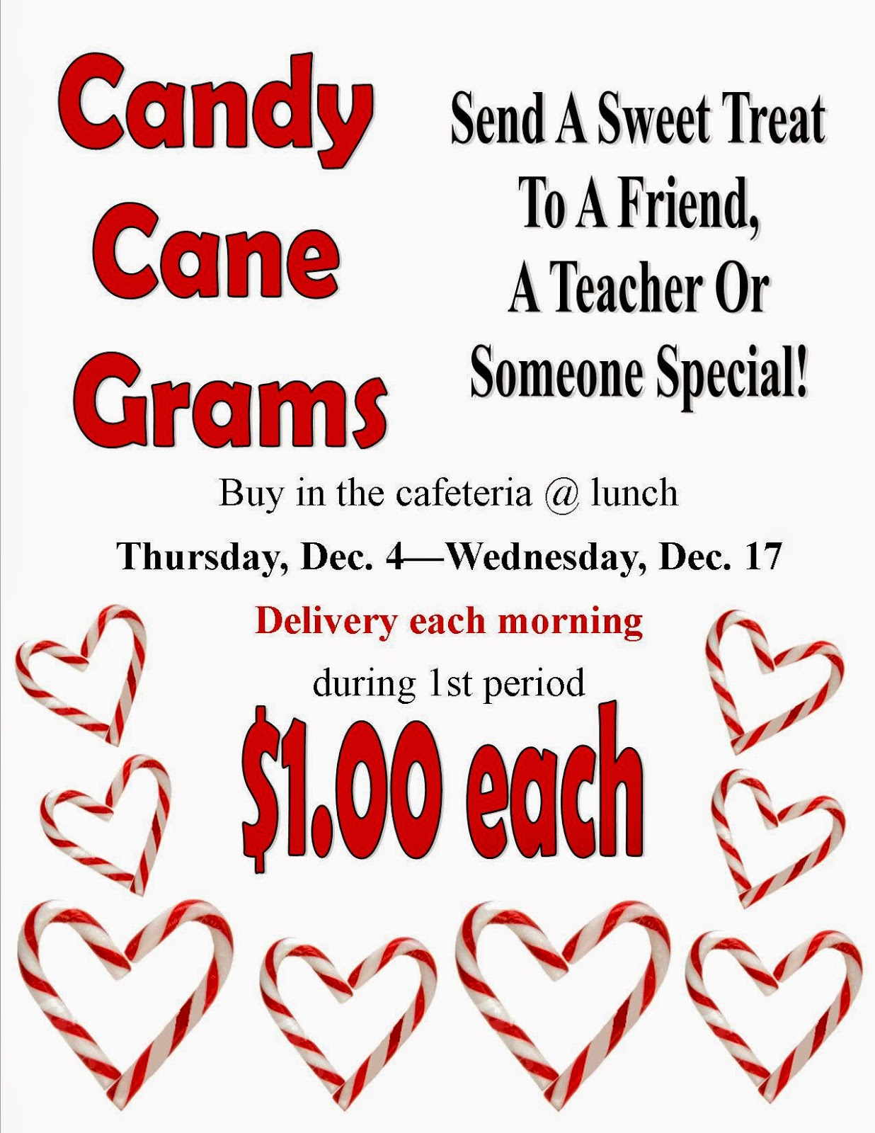 candy cane gram template