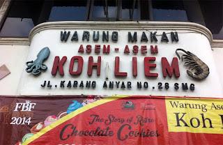 Rumah Makan Asem-Asem Koh Liem Semarang,