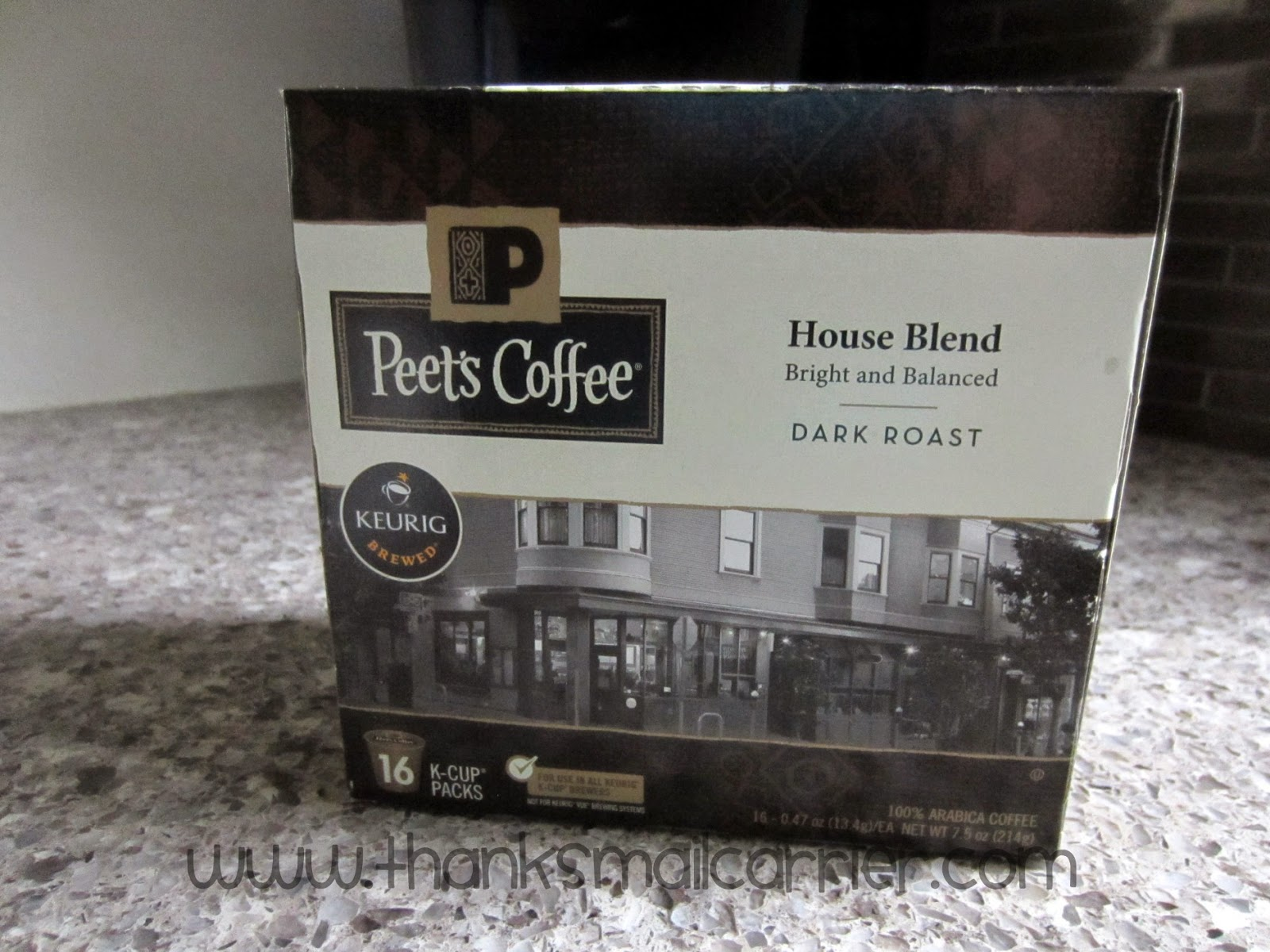 Thanks Mail Carrier Peet S House Blend K Cup Coffee