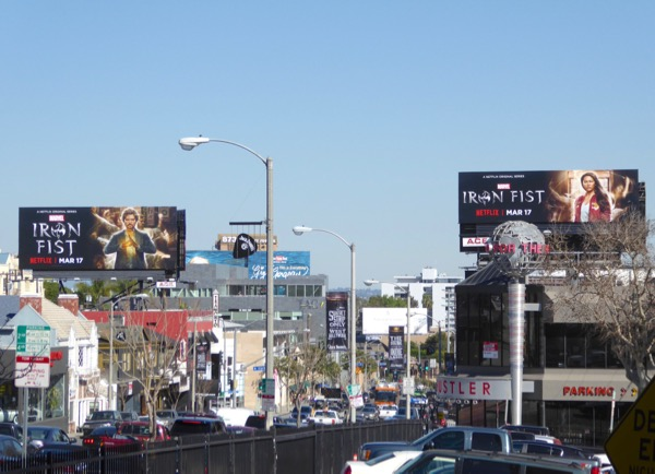 Iron Fist series billboards