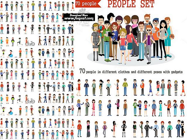 70 ملف لشخصيات كرتون صور وملفات مفرغة وملفات psd وفيكتور