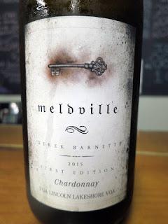 Meldville Derek Barnett First Edition Chardonnay 2015 (87 pts)