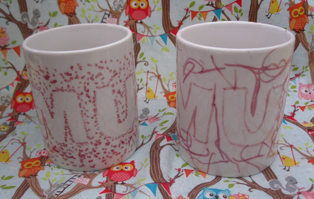 Two mugs decorated