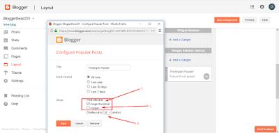 Cara menampilkan deskripsi snippet pada popular posts