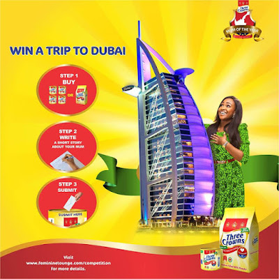 Win a Trip To Dubai in Three Crowns Milk Mum of the Year Competition 2018.