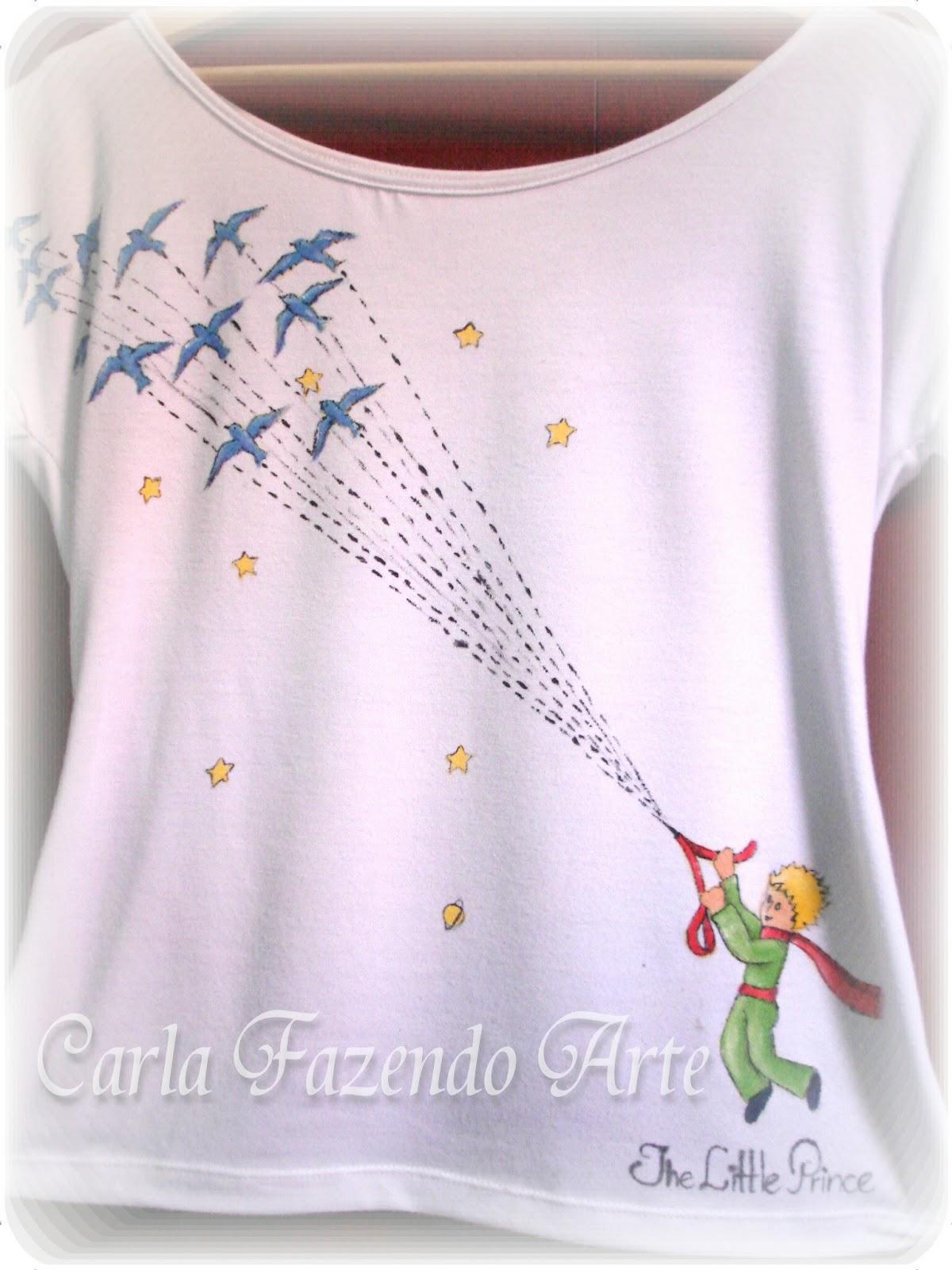 c8d36a39c12 Tênis Personalizado  Camiseta Pequeno Príncipe