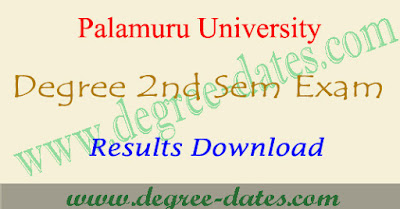 PU degree 2nd sem results 2017 palamuru university ug result date