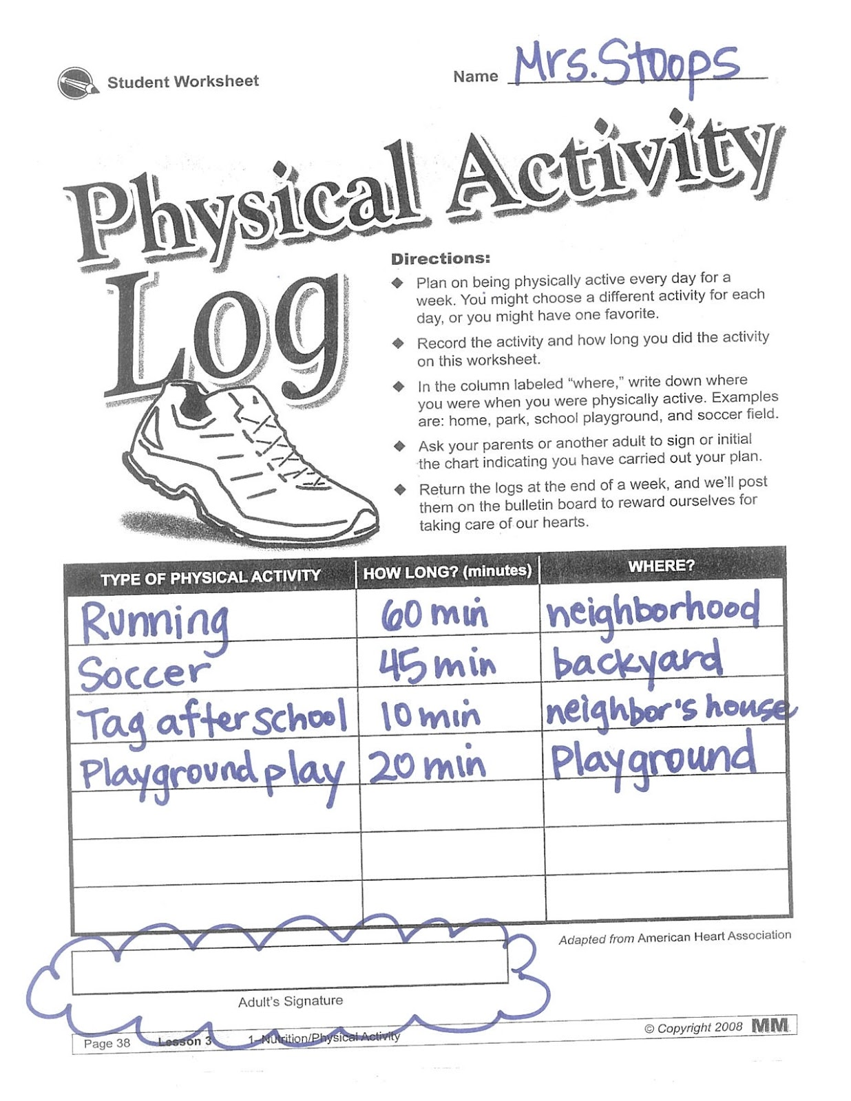 Haisley Physical Education October