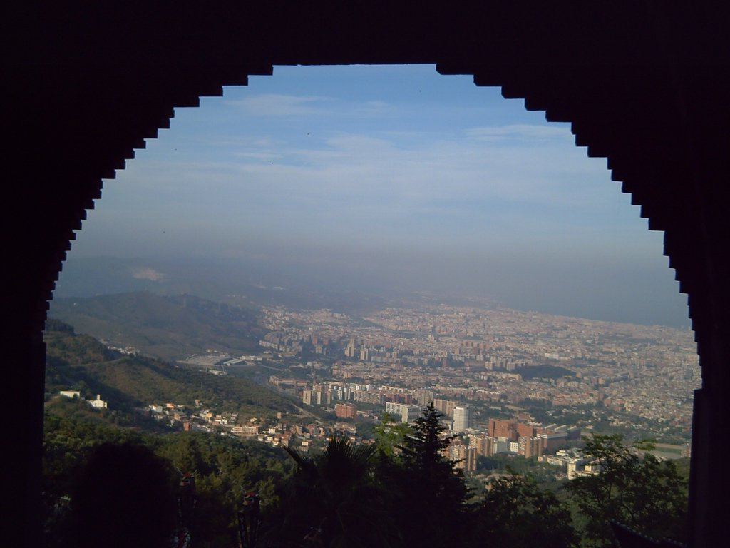 View from Tibidabo amusement park
