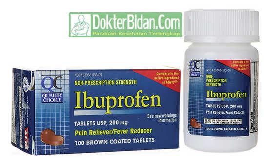 Ibuprofen - Dosis Aturan Pakai, Efek Samping Dan Khasiat Untuk Pereda Nyeri anak Anak dan Orang Dewasa