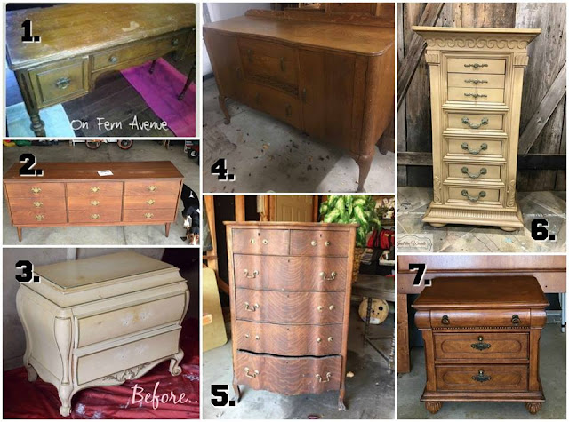 furniture makeovers, refinished furniture, before and after furniture projects, diy projects, painted furniture ideas