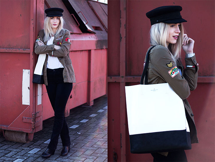 Fashion Attacks Army Flared outfit ootd Pauls Boutique London