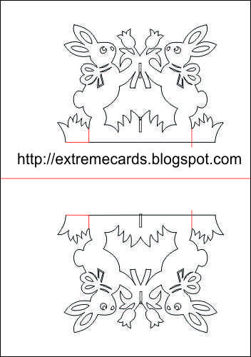Extreme Cards and Papercrafting: Easter Rabbits Magic X