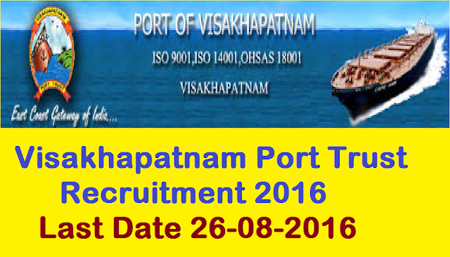 Visakhapatnam Port Trust Recruitment 2016|Visakhapatnam Port Trust invites application for the post of Senior Medical Officer (Orthopaedics) By direct recruitment| Apply before 26 August 2016|Recruitment Notification for Senior Medical Officer (Orthopaedics) in Visakhapatnam Port Trust2016/08/visakhapatnam-port-trust-recruitment-2016-senior-medical-officer.html