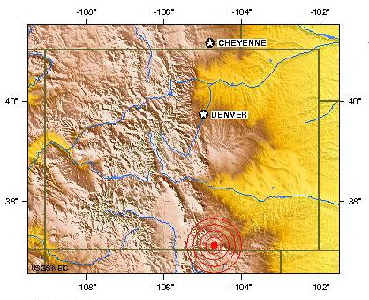 Magnitude 3.8 Earthquake of COLORADO 2011 August 23