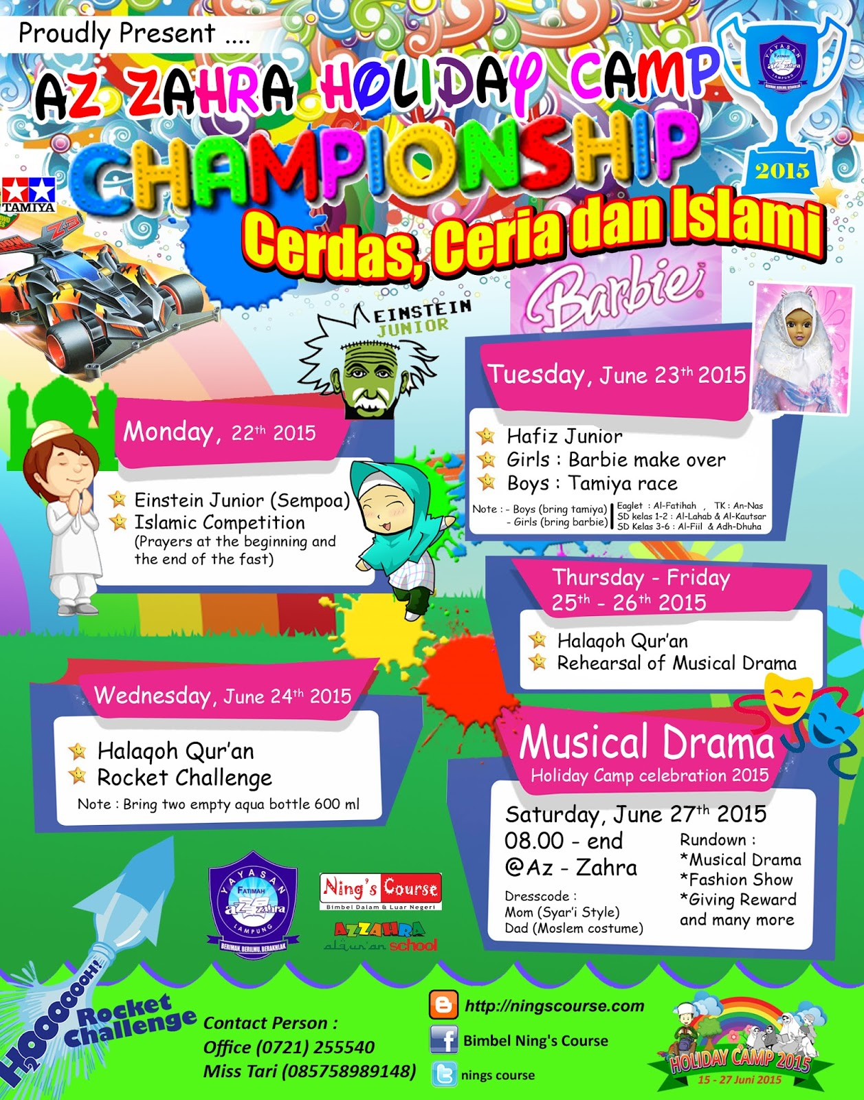 Agenda Holiday Camp 2015 Pekan Kedua Bimbingan Belajar Ning S