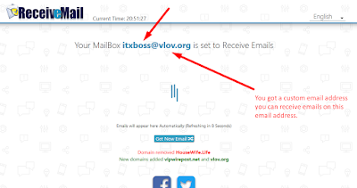 Now you can receive email on this custom email address