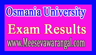 Osmania University OE Oct 2016 Exam Results
