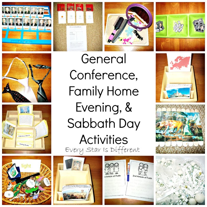 general conference family home evening sabbath day activities for