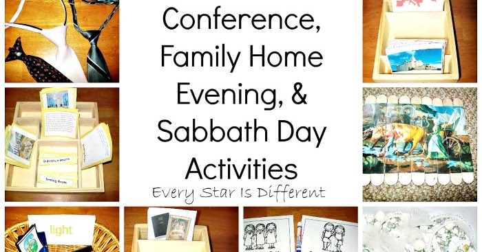 General Conference Family Home Evening Sabbath Day Activities For Kids Eve