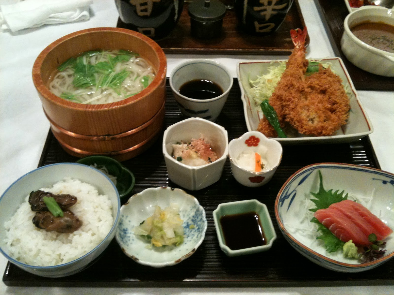 Tokyo - First dinner at Maisen