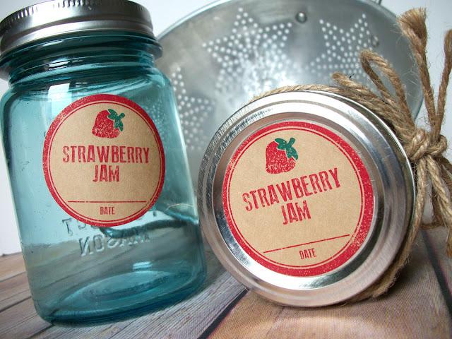 strawberry jam kraft canning label