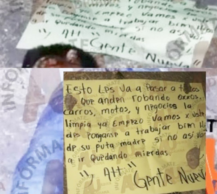"""""""Ya están en la lista perros"""", Sicarios de """"Gente Nueva"""" ejecutan y amenazan a los extorsionadores de Iguala."""