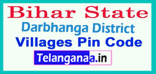 Darbhanga District Pin Codes in Bihar State