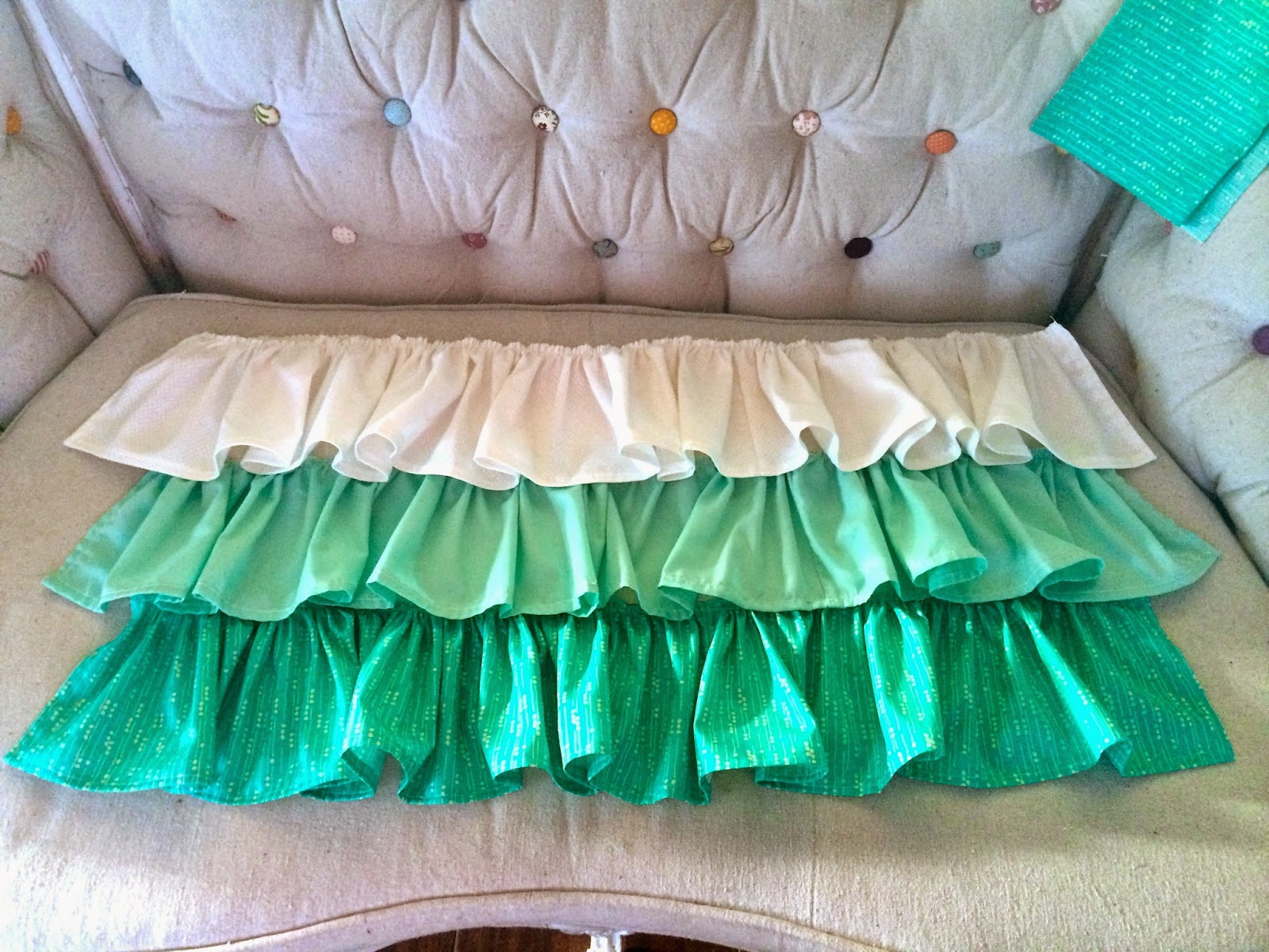Saleena: DIY: Ruffled Crib Skirt Tutorial
