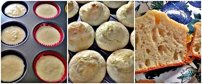 Preparación de los muffins de queso parmesano