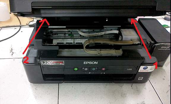Printer Epson L220 Error Blinking Paper Jam