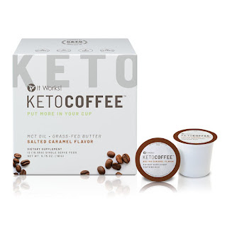 IT WORKS SALTED CARAMEL KETO COFFEE PODS PIC