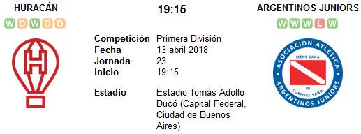 Huracán vs Argentinos Juniors en VIVO