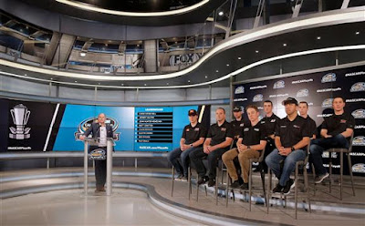 The Eight Drivers On The Leader Board Going Into The Playoffs Answer Media Questions In Charlotte,  North Carolina At The 2017 #NASCAR Camping World Truck Series Playoffs Media Day