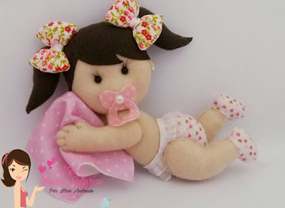 """alt=""""artesanato bebê em feltro"""""""