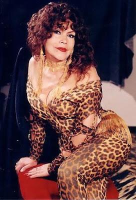 Foto de la Tigresa del Oriente con ropa de tigresa
