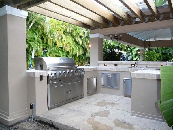 Dapur Outdoor Luar Rumah