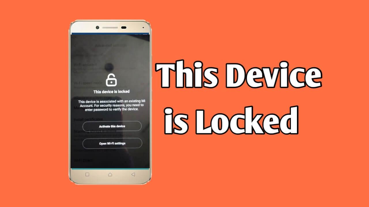 Cara mudah atasi hp xiaomi terkunci (this device is locked)