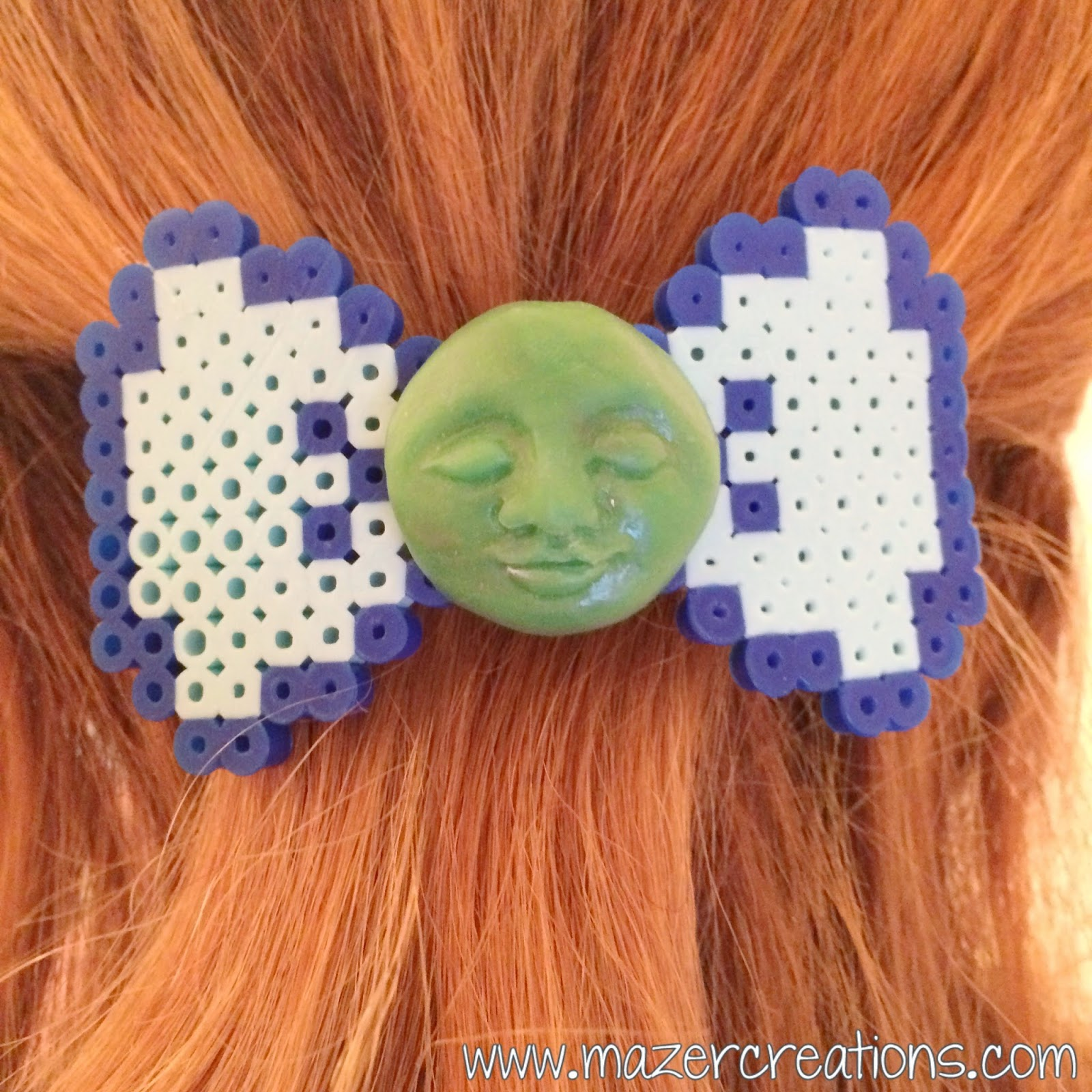 How To Make A Perler Bead Bow Hair Clip | Mazer Creations