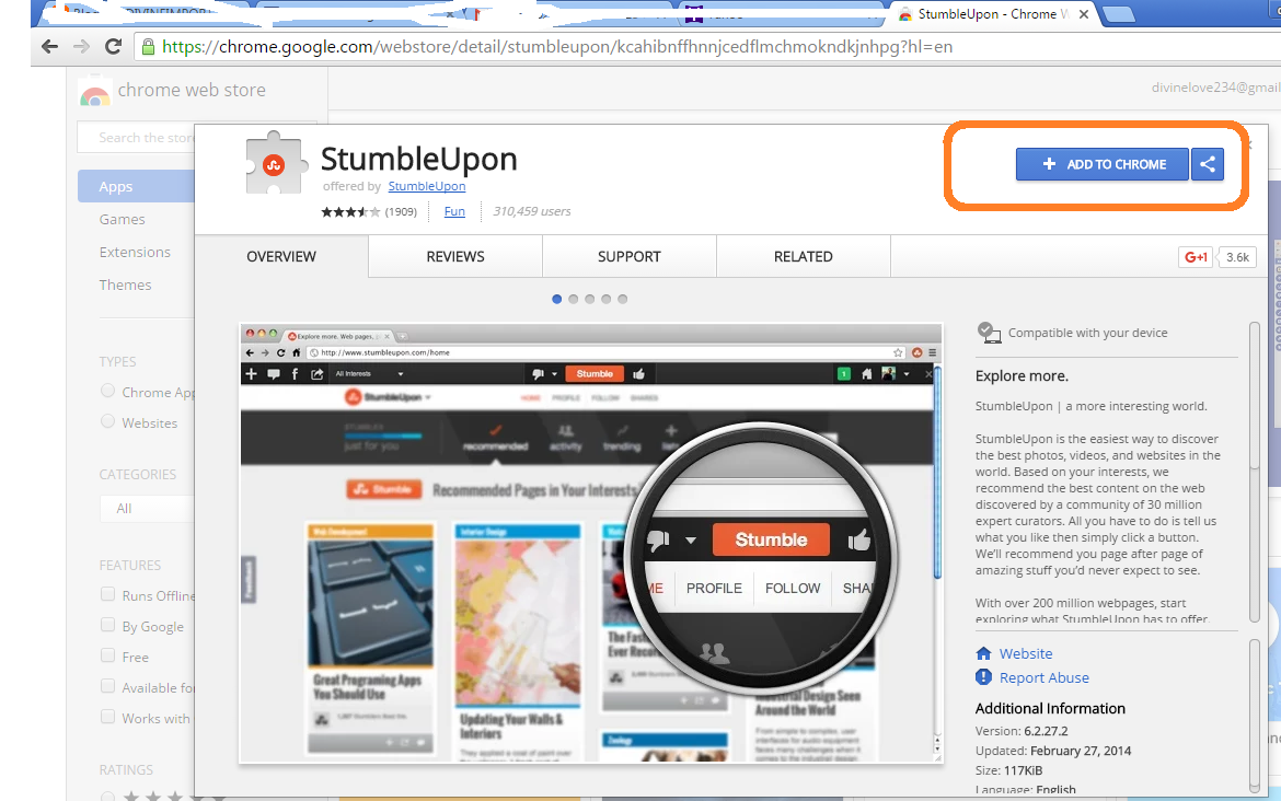 how to add stumbleupon button to blogger