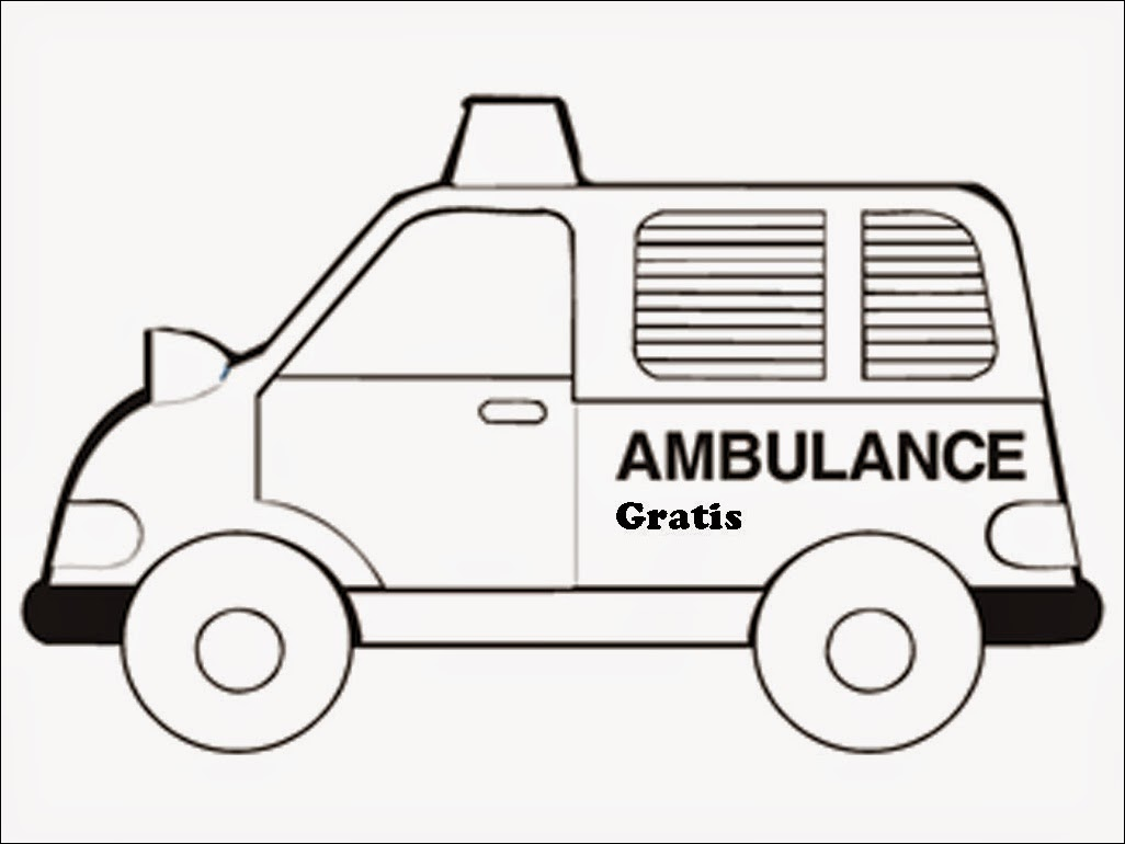 Realistic Ambulance Coloring Pages | Realistic Coloring Pages