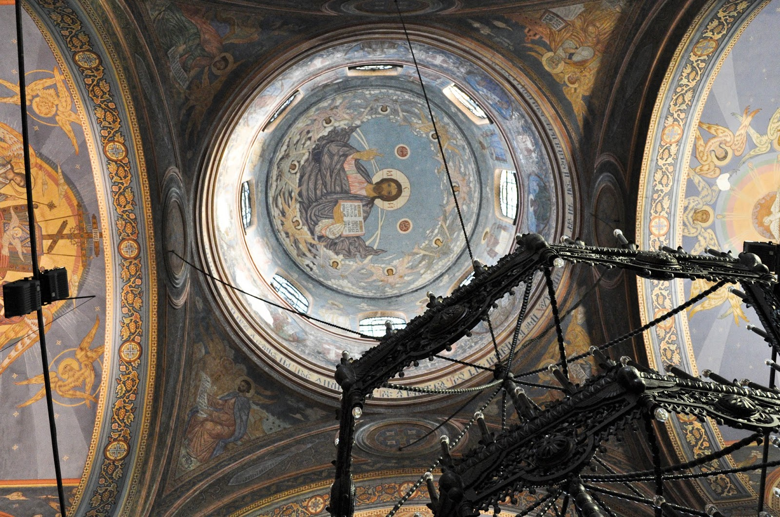Detail of the frescoed ceilings, Dormition of the Mother of God Cathedral, Varna
