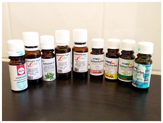 Seifenfarben und Seifendüfte