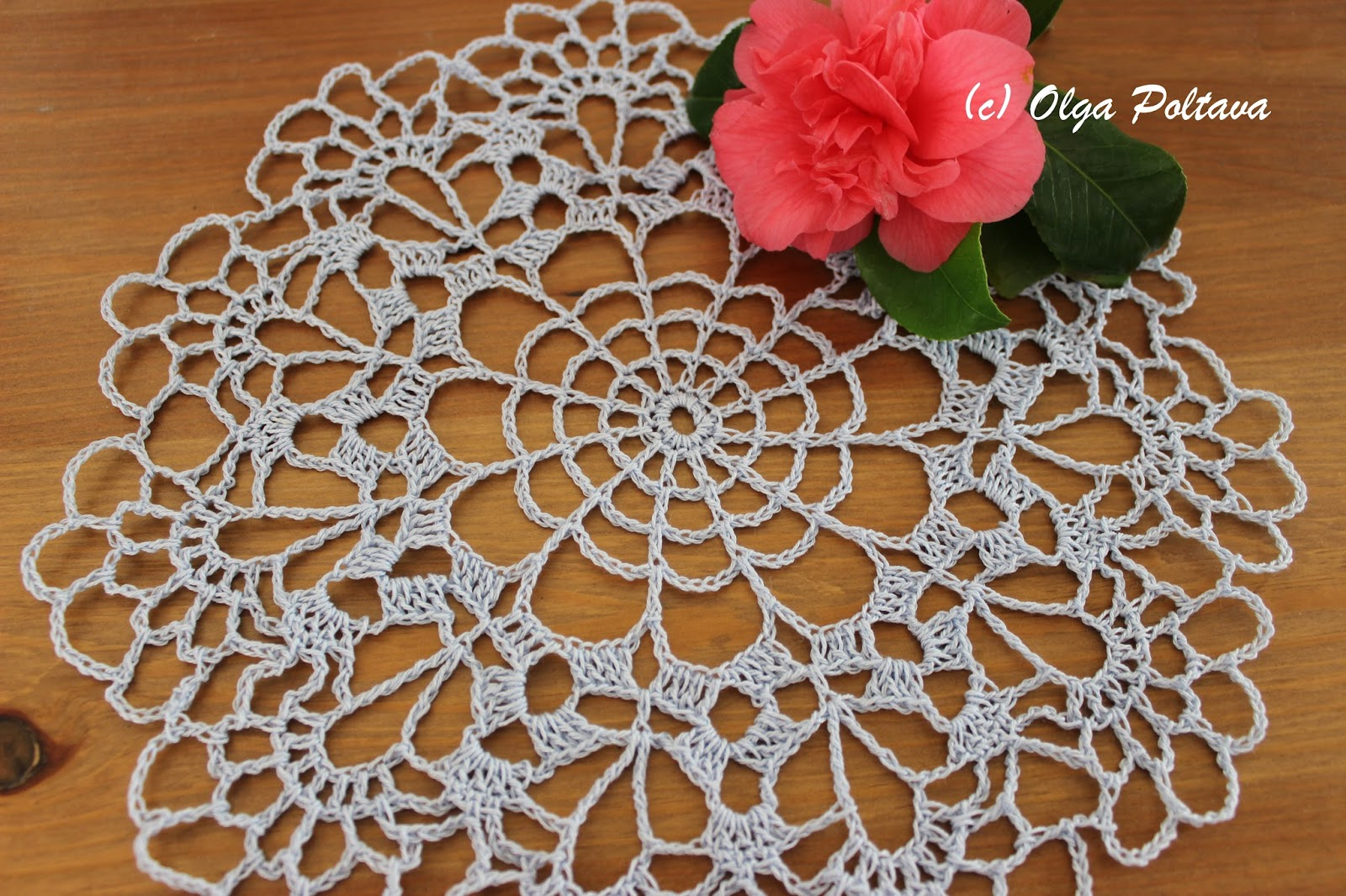 Lacy Crochet Small Doily Free Vintage Pattern