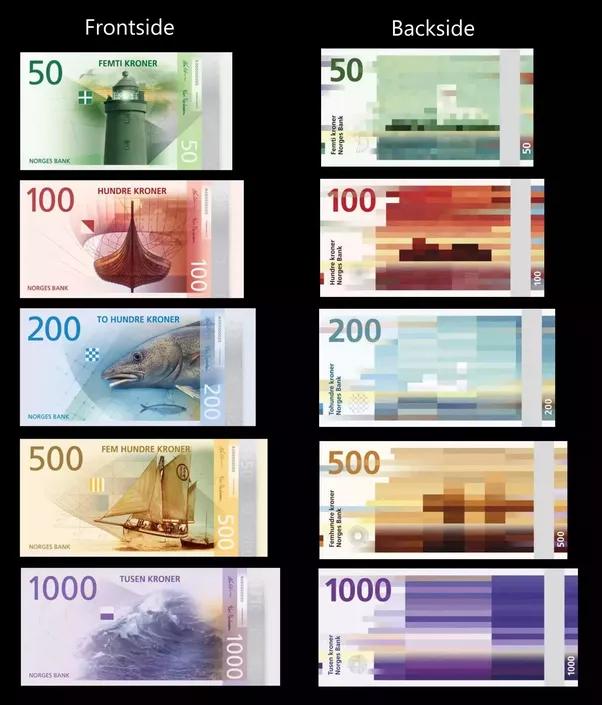 A Noruega tem, sem dúvida, as notas de dinheiro mais legais do mundo inteiro.