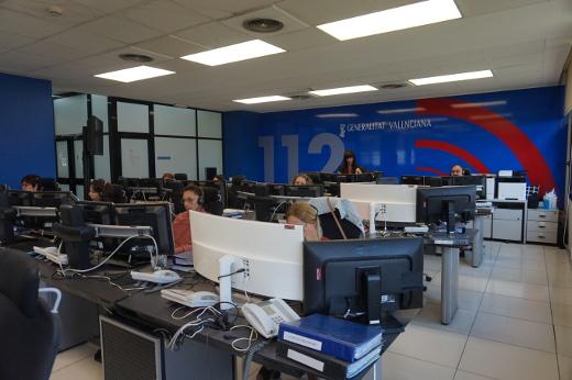 La sala del '112 Comunitat Valenciana' refuerza su personal un 23% en Nochevieja y Año Nuevo